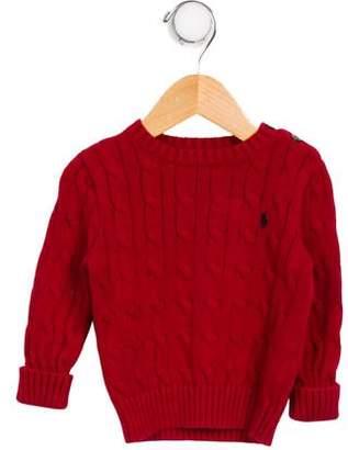 Ralph Lauren Boys' Cable Knit Crew Neck Sweater