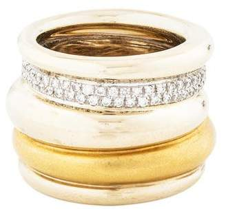 Pomellato 18K Diamond Tubolare Ring