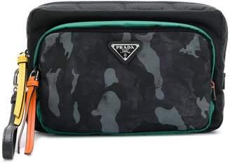 Prada camouflage-print zipped clutch