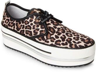 Patrizia Pepe Leopard Platform Sneakers