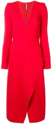 Ermanno Scervino fitted v-neck dress