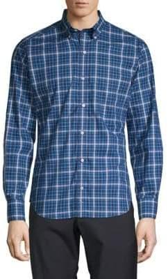 Tailorbyrd Plaid Long-Sleeve Button-Down Shirt