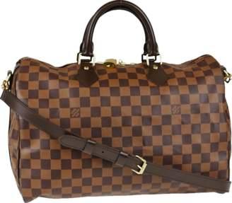 Louis Vuitton Speedy Bandouliere Damier Ebene 35 Brown