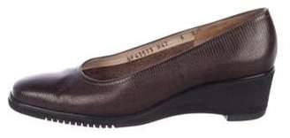 Salvatore Ferragamo Embossed Leather Wedges Embossed Leather Wedges