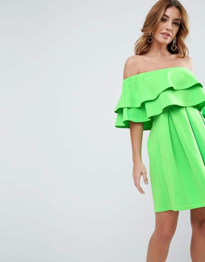 AsosASOS Ruffle Off Shoulder Mini Dress