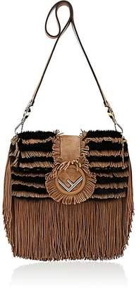 Fendi Women's Striped Fur Shoulder Bag