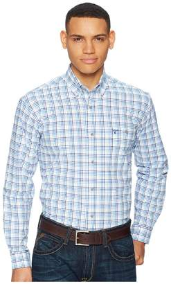 Wrangler Long Sleeve 20X Competition AC Shirt Plaid Men's Clothing
