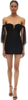 Alice McCall Off-the-shoulder Nylon Mini Dress