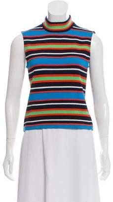St. John Sport Striped Wool Top