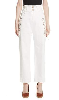 See by Chloe Lace-Up Wide Leg Trousers
