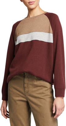 Brunello Cucinelli Crewneck Cashmere Sweater w/ Active Multicolor Detail