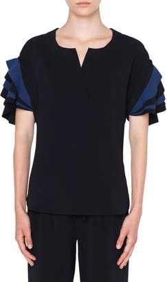 Akris Punto Layered Sleeve Blouse