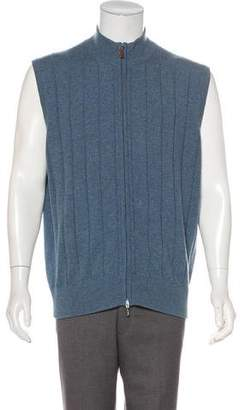 Peter Millar Cashmere Zip-Up Vest