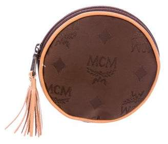 MCM Woven Zip Coin Pouch