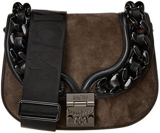 MCM Trisha Chain Suede Shoulder Bag