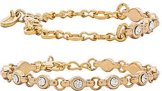 Ettika Rhinestone Chain Bracelet Set