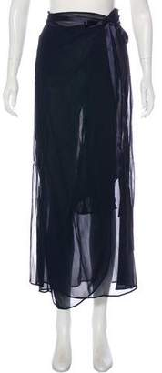 Blumarine Sheer Wrap Skirt