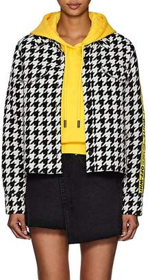 Off-White Women's Logo-Trimmed Houndstooth Crop Jacket