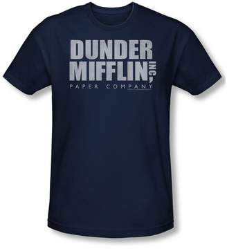 Office The Dunder Mifflin Distressed Slim Fit Adult T-Shirt In