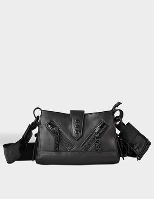 Kenzo Kalifornia Mini Shoulder Bag with Strap in Black Calfskin