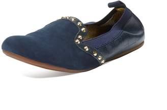 Yosi Samra Women's Suede & Embossed Leather Loafer Flat