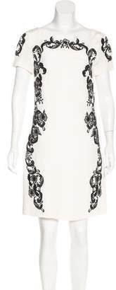 Marchesa Voyage Embroidered Silk Dress