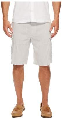 Perry Ellis Striped Linen Cargo Shorts Men's Shorts