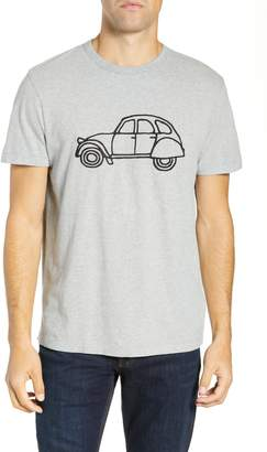 French Connection Embroidered Car Cotton T-Shirt