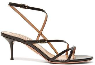 Aquazzura Carolyne 60 Leather Sandals - Womens - Black