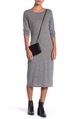 Alternative Long Sleeve Heathered Midi Tee Dress