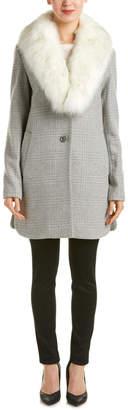T Tahari Olivia Wool-Blend Coat