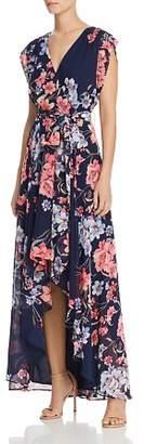 Eliza J Obi Floral Print High/Low Dress