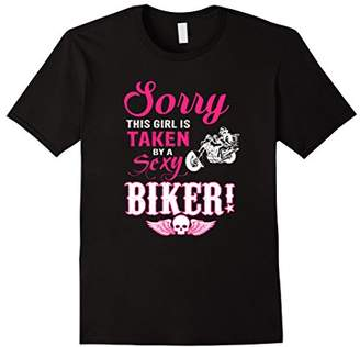 Mens Sorry this Girls is Taken by a Sexy Biker T-shirt Motorcycle 3XL