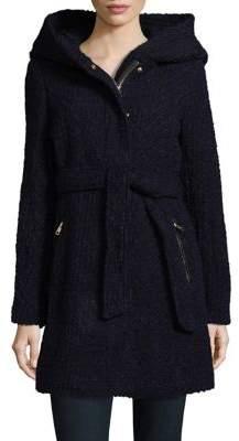 Cole Haan Belted Zip Front Jacket