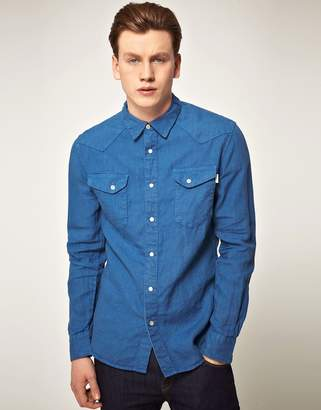 Paul Smith Ps  Jeans Tailored Fit Western Denim Shirt