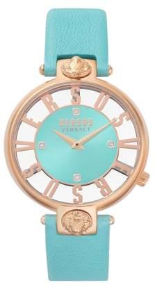Versus By Versace VERSUS Versace Kristenhof Leather Strap Watch, 34mm