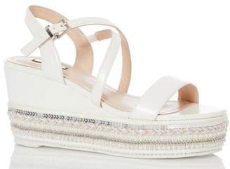Quiz Womens X Strap Heel Sandals - White