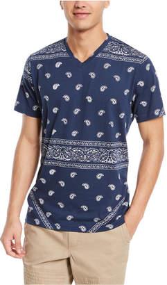 American Rag Men Blocked Bandana T-Shirt