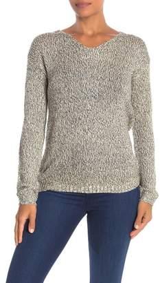 Modern Designer Lattice Back Long Sleeve Knit Sweater