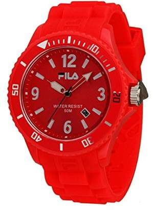 Fila FA-1023-40 – Watch with Steel Strap for Men, Red/Grey