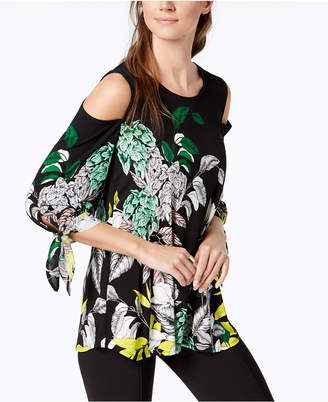 Alfani Petite Cold-Shoulder Top, Created for Macy's