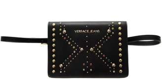 Versace Black Faux Leather Shoulder Bag
