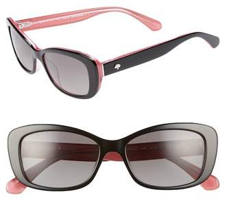 Kate Spade Claretta 53mm Polarized Sunglasses