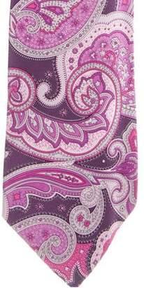 Dolce & Gabbana Paisley Print Silk Tie