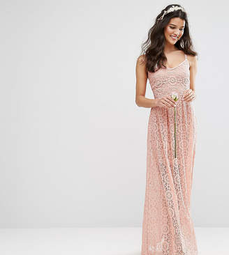 Body Frock Bodyfrock Cami Strap Maxi Dress in Allover Lace