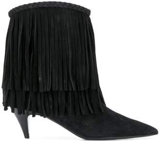Saint Laurent fringed ankle boots