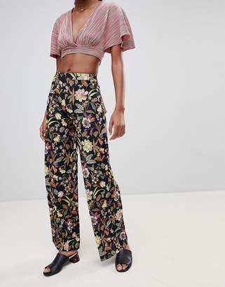 Love Floral Wide Leg PANTS