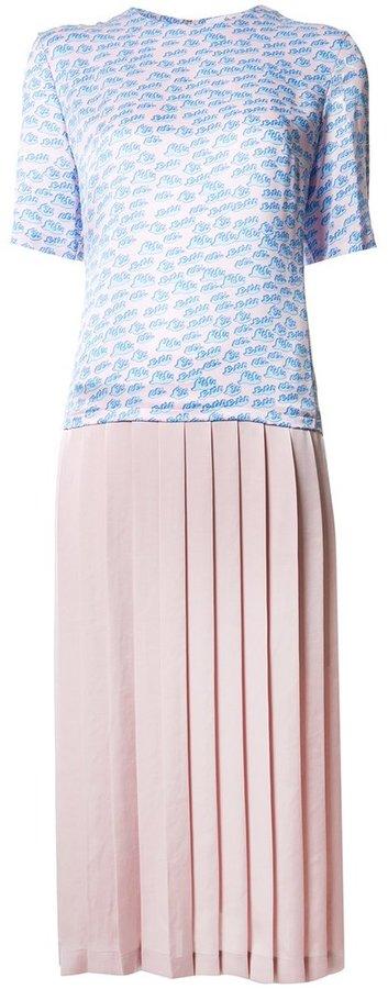 Julien David pleated skirt dress