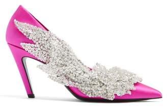 Balenciaga Talon Slash Pumps - Womens - Pink Silver