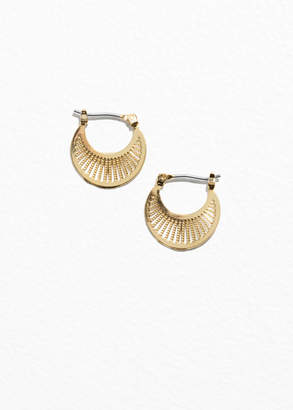 Ray Hoop Earrings